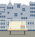 Empty Wooden Chair At Balcony vector image vector image