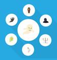 flat icon celebrate set candlestick phantom vector image vector image