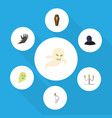 flat icon celebrate set of candlestick phantom vector image vector image