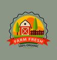 flat style of bio organic eco healthy food label vector image vector image