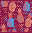 fun vivid pineapple seamless pattern vector image vector image