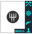 gear shifter icon flat vector image vector image