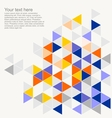 Geometric mosaic triangle card document template vector image vector image