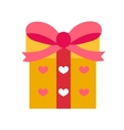 Gift icon flat design Isolated on white vector image vector image