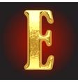 golden letter on red vector image