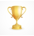 golden winner cup on white vector image