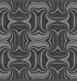 grey psychedelic abstract seamless striped vortex vector image vector image