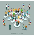 Grop business people in flat style vector image vector image