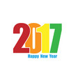 happy new year 2017 flat style background year of vector image