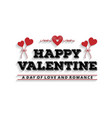 happy valentines day card set typographic with vector image