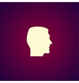 head icon Flat design style vector image vector image