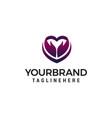 heart arrow logo design concept template vector image vector image