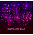 HHappy New Year with fireworks background vector image vector image