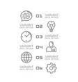 information set of icons vector image vector image