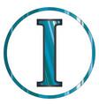 iota greek letter vector image vector image