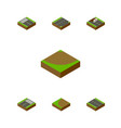 isometric way set of turning footer turn and vector image vector image