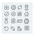 Line icon set vector image vector image
