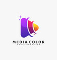 logo media color gradient colorful style vector image