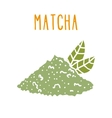 Matcha tea powder vector image vector image
