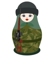 Matryoshka with a sniper rifle vector image vector image