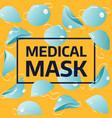 medical mask banner vector image