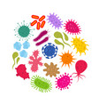microorganism and primitive infection virus vector image vector image