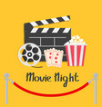 movie night red rope barrier stanchions turnstile vector image