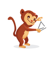 Musical animals monkey Triangle vector image vector image