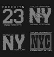 new york typography graphics set vector image vector image