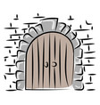 old door drawing on white background vector image