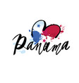 panama flag -logo- with brush vector image vector image