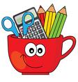pencil cup vector image vector image