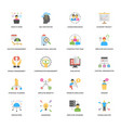 project management flat design icons set vector image vector image