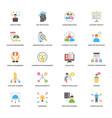 project management flat design icons set vector image