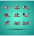 racing background set collection of 9 checkered vector image vector image