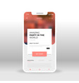 red ticket seller ui ux gui screen for mobile vector image vector image