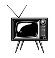 retro tv set concept vector image