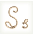 Rope alphabet Letter S vector image vector image