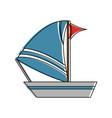 sailboat ship icon image vector image vector image