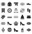 sales icons set simple style vector image