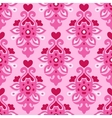 Seamless pattern Flourish love heart vector image