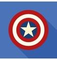 Shield with a star superhero shield comics vector image vector image