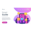 smart guide landing page vector image vector image
