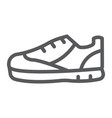 sport shoes line icon footwear and shoe sneaker vector image