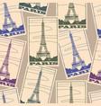 stickers travel paris vector image