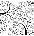 Stylized trees on white background vector image vector image