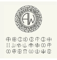 Template letters to create monograms vector image vector image