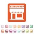 The barbershop building icon Barbershop symbol vector image vector image
