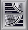 trending silver black business card visiting card vector image vector image