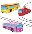 Trolleybus tram bus isolated vector image